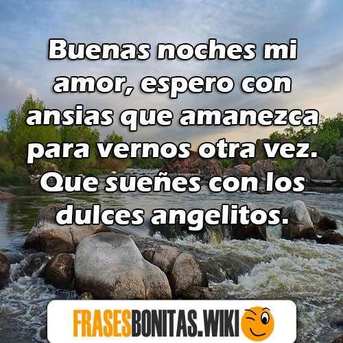 Frases Y Mensajes De Buenas Noches Mi Amor Para Novio Novia