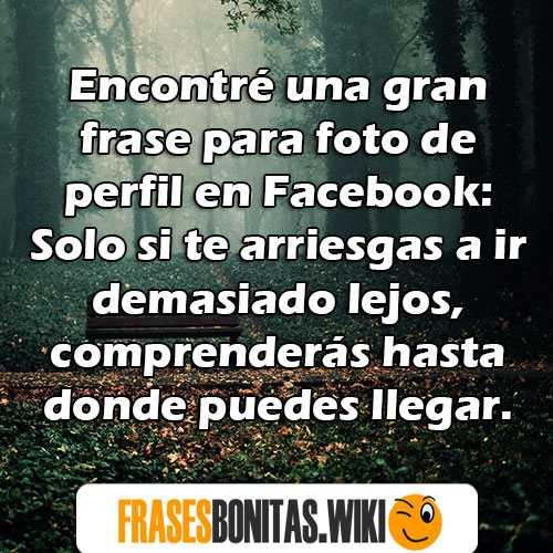 frases de facebook para fotos de perfil