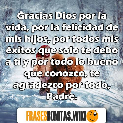 palabras y mensajes de agradecimiento a dios